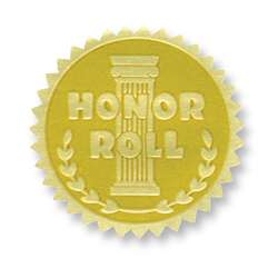 Gold Foil Embossed Seals Honor Roll, H-VA370