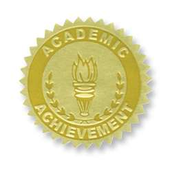 Gold Foil Embossed Seals Academic Achievement, H-VA372