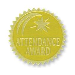 Gold Foil Embossed Seals Attendance Award, H-VA375