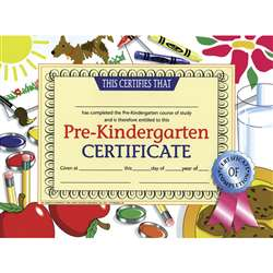 Certificates Pre-Kindergarten 30/Pk 8.5 X 11 By Hayes School Publishing