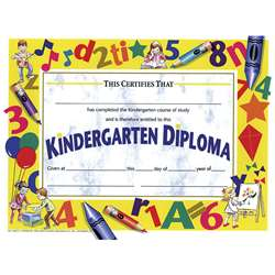 Diplomas Kindergarten 30/Pk 8.5X11 Yellow By Hayes School Publishing