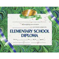 Diplomas Elementary School 30 Pk 8.5 X 11 By Hayes School Publishing
