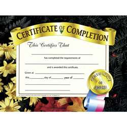 Certificates Of Completion 30 Pk 8.5 X 11 By Hayes School Publishing