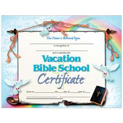 Vacation Bible School Set Of 30 Certificates By Hayes School Publishing