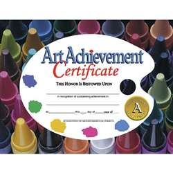 Certificates Art Achievement 30/Pk 8.5 X 11 By Hayes School Publishing