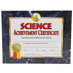 Certificates Science 30/Pk 8.5 X 11 Achievement By Hayes School Publishing