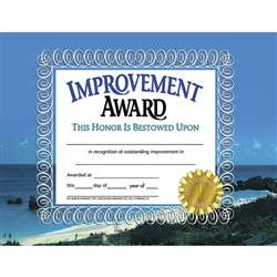Certificates Improvement 30/Pk Award 8.5 X 11 By Hayes School Publishing