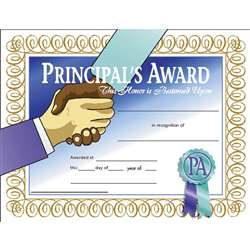 Certificates Principals Award 30/Pk 8.5 X 11 By Hayes School Publishing
