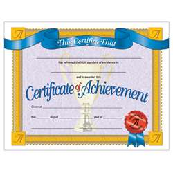 Certificates Of Achievemnet 30/Pk 8.5 X 11 Inkjet Laser By Hayes School Publishing