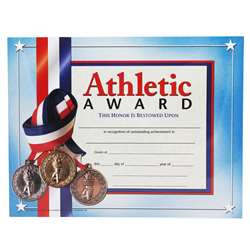 Certificates Athletic Award 30/Pk 8.5 X 11 Inkjet Laser By Hayes School Publishing