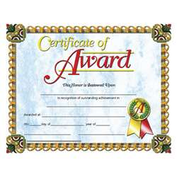 Certificates Of Award 30/Pk 8.5 X 11 Inkjet Laser By Hayes School Publishing