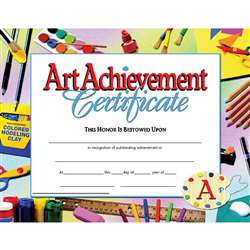Certificates Art Achievement 30 Pk 8.5 X 11 Inkjet Laser By Hayes School Publishing