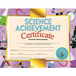 Certificates Science 30/Pk 8.5 X 11 Achievement Inkjet Laser By Hayes School Publishing