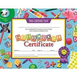 Certificates Preschool 30-Set Certificate Blue Background By Hayes School Publishing