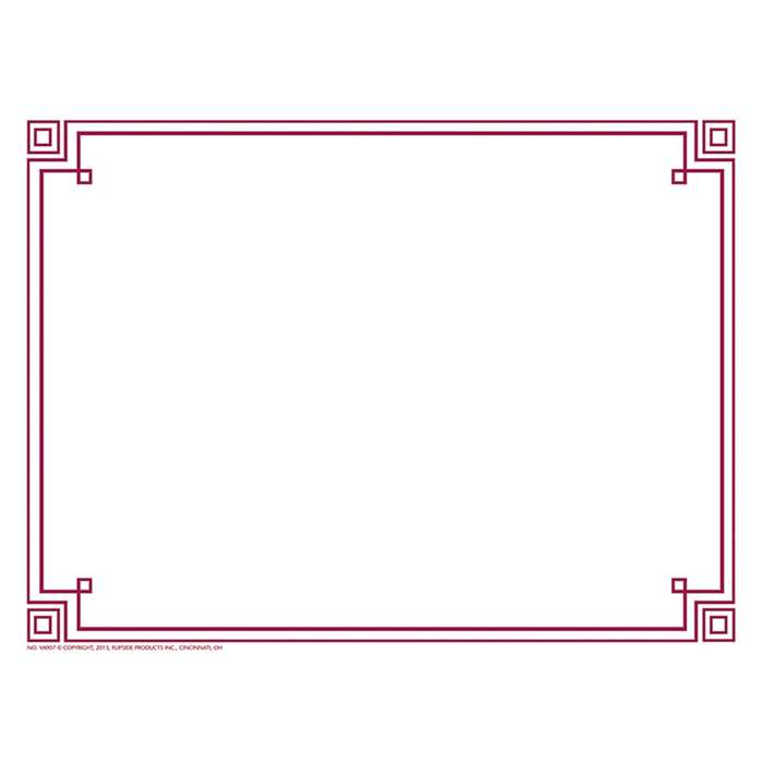 Four Square Border Paper Plum, H-VA907