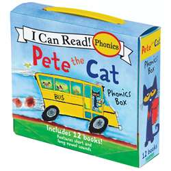 Pete The Cat 12 Book Phonics Set, HC-9780062404527