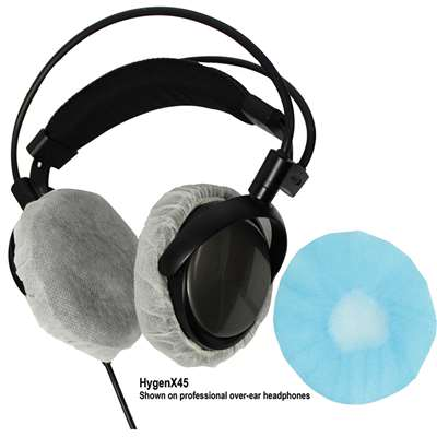 Hygenx Disposable Headphone Covers Over-Ear Blue, HECHYGENX45BL