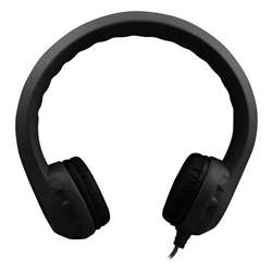 Flex-Phones Indestructible Blk Foam Headphones, HECKIDSBLK
