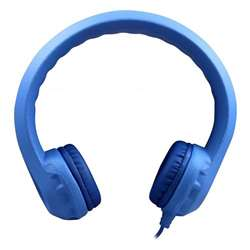 Flex-Phones Indestructible Blu Foam Headphones, HECKIDSBLU