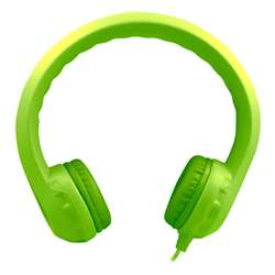 Green Indestructible Foam Headphone Flexphone, HECKIDSGRN