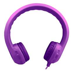 Purple Indestructible Headphone Flexphone Foam, HECKIDSPPL
