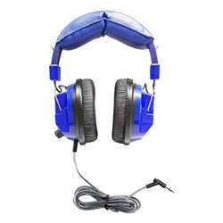 Blue Deluxe Headphone with 35Mm Plug And Volume, HECKIDSSC7V