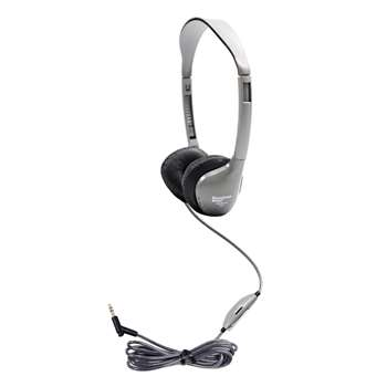 Personal Stereo Mono Headphones Leatherette Ear Cushions W/ Volume By Hamilton Electronics Vcom