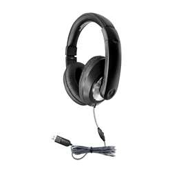 Headphone with Volume Contrl Usb Plug, HECST1BKU