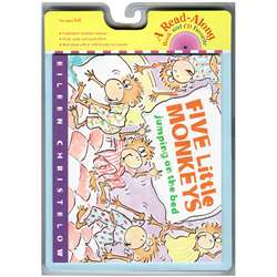 Carry Along Book & Cd Five Little Monkeys Jumping By Houghton Mifflin
