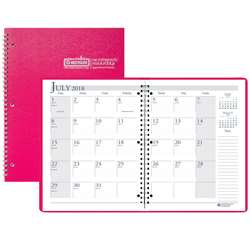 Academic Monthly Planner 8 1/2 X 11 Pink Wirebound By House Of Doolittle