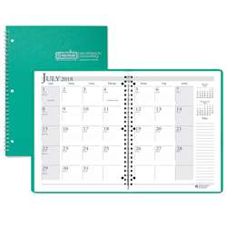 Academic Monthly Planner 8 1/2 X 11 Bright Green Wirebound By House Of Doolittle