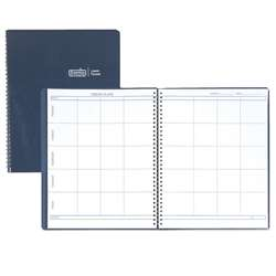 Weekly Lesson Planner Blue Simulated Leather Cover By House Of Doolittle
