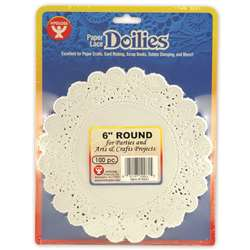 Doilies 6 White Round 100/Pk By Hygloss Products