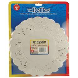 Doilies 8 White Round 100/Pk By Hygloss Products