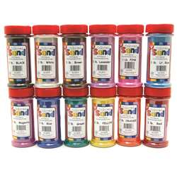 Bucket O Sand 12 Asstd Colors 1 Lb By Hygloss Products