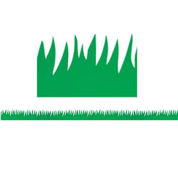 Green Grass Mighty Brights Border By Hygloss Products