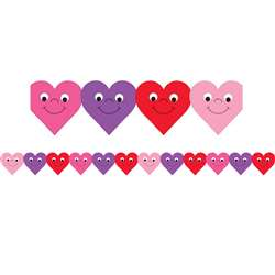 Happy Hearts Die Cut Classroom Border 12Pk By Hygloss Products