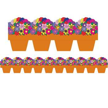 Flower Pot Die Cut Border By Hygloss Products