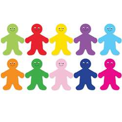 "Die Cut Accents 7"" Rainbow People, HYG33706"