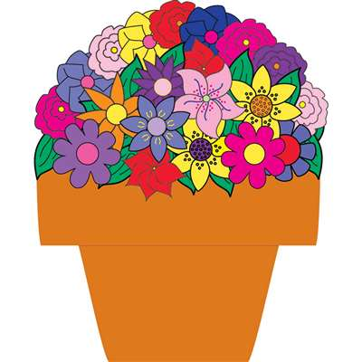 7In Flower Pot Accents By Hygloss Products