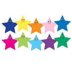 "7"" Multicolor Happy Stars Die Cut Accents, HYG33756"