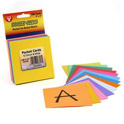 Rainbow Brights Pocket Cards 3X3 8 Ea Of 12 Colors + 4 White By Hygloss Products