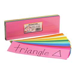 Bright Flash Cards 3X9 By Hygloss Products