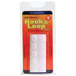 Hook & Loop Fastener 58 Coins 15/St By Hygloss Products