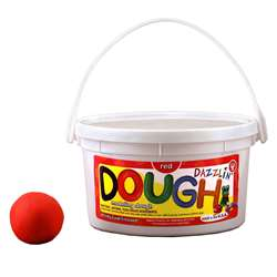 Dazzlin Dough Red 3 Lb Tub By Hygloss Products