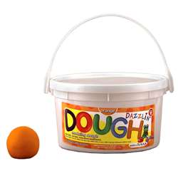 Dazzlin Dough Orange 3 Lb Tub By Hygloss Products