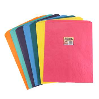 Colorful Paper Bags 12X15 Asstd Col Pinch Bottom By Hygloss Products