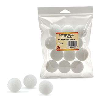 Styrofoam 1 1/2In Balls Pack Of 12 By Hygloss Products