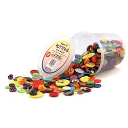 Asst Buttons 16 Oz Bucket By Hygloss Products