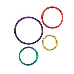 Metallic Book Rings Pack Of 36 By Hygloss Products